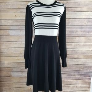 Eliza J Sweater Dress Striped Long Sleeve Dress